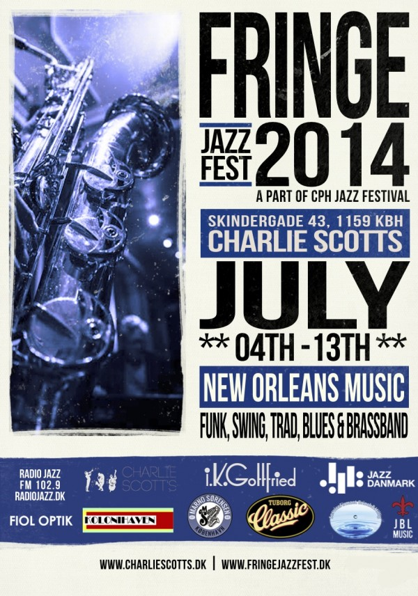 Fringe Jazz Fest flyer for 2014